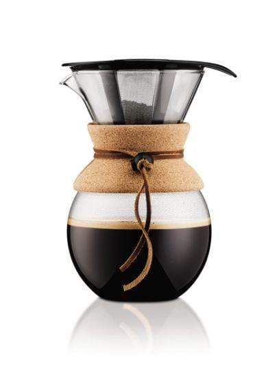 Bodum Pour Over Coffee Maker with Permanent Filter 1.0 L Cork Coffee Making Equipment BeanBear
