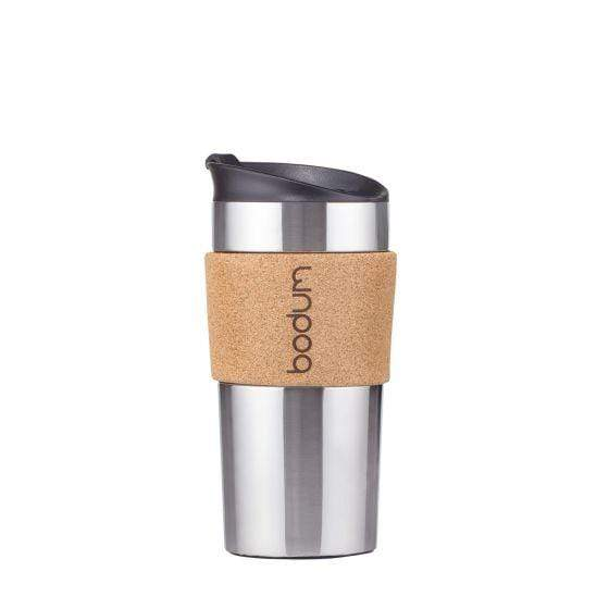 Bodum Travel Mug Stainless Steel Large 12oz - Cork