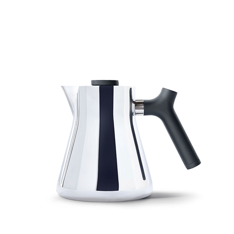 Fellow Raven Stovetop Tea Kettle With Tea Steeper - Polished Steel