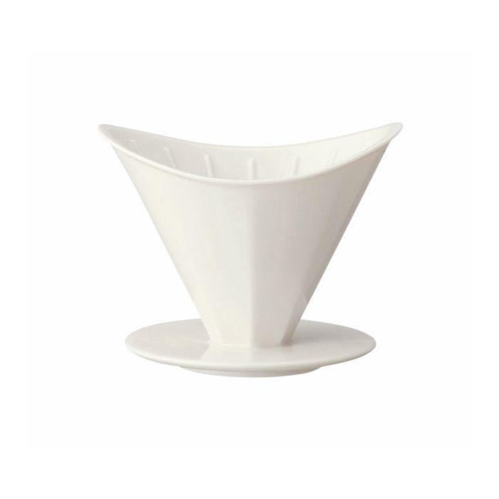 Kinto Oct Brewer 4 Cup White Porcelain Coffee Dripper
