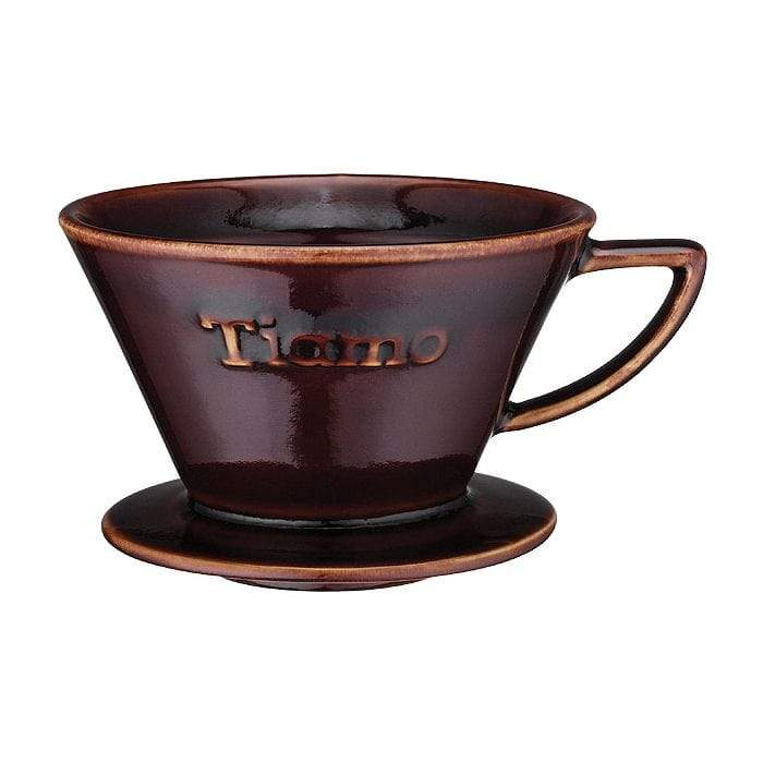 Tiamo Ceramic K Coffee Dripper in Brown - Size 02