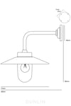 Chelsea Outdoor Wall Light Galvanised - DUNLIN™ Home Australia - 2