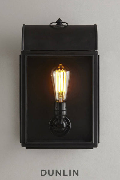 Weathered Brass Wall Light with Crown