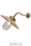 Canted Chelsea Outdoor Wall Light Bronze
