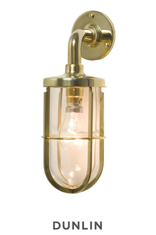 Ketch Yacht Wall Light Polished Brass, Large