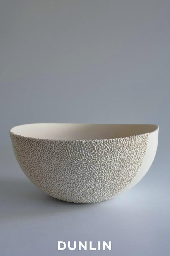 Lesley Doe Ceramics - Coalescence Bowl Medium Pure