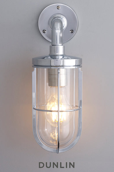 Ketch Yacht Wall Light Chrome, Large