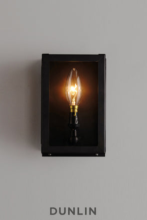 Mercer Small Outdoor Weathered Brass Wall Light