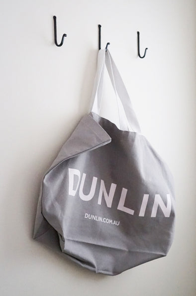 Dunlin Carry All Canvas shopping tote grocery bag