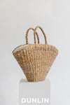 Dunlin seagrass hogla straw beach bag