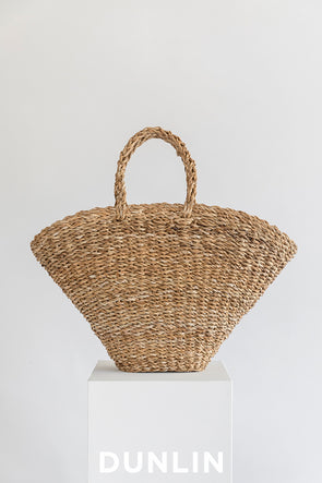 Dunlin summer seagrass hogla straw beach bag