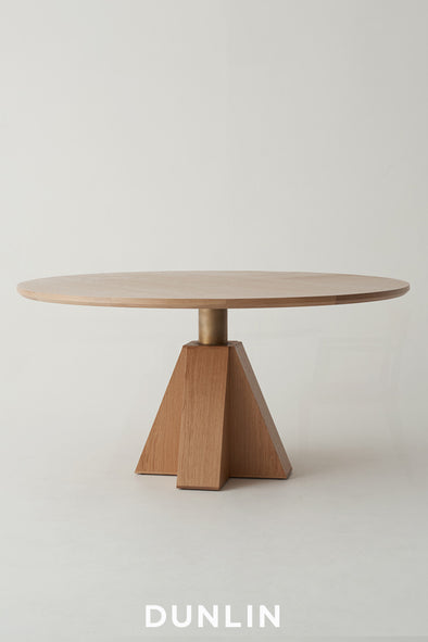 Daniel Boddam and Dunlin M- Dining round wood marble Table