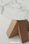Daniel Boddam M- Round Wood Marble Carrara Side Table