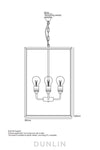 Crown Extra Large Rectangular Pendant - DUNLIN™ Home Australia - 3