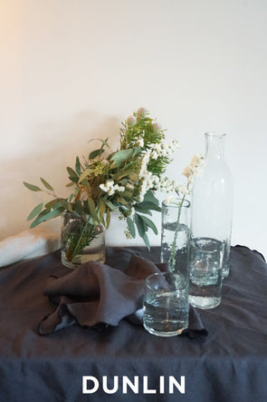 Dunlin French Linen Tablecloth in Charcoal - DUNLIN™ Home Australia - 1