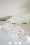 Dunlin Raw Edge Linen Throw in Ivory - DUNLIN™ Home Australia - 1