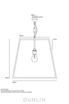 Mercer St. Outdoor Large Triangular Pendant - DUNLIN™ Home Australia - 2
