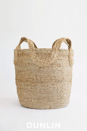 J'Jute Ecole Tall Jute Basket in Natural