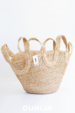 J'Jute Ecole Meeting Jute Basket in Natural