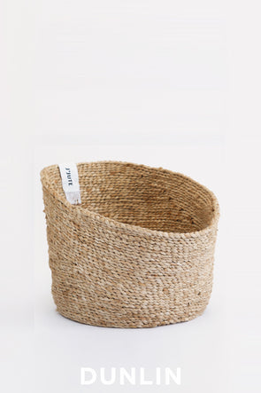 J'Jute Lodi Angled Jute Fruit basket in Natural