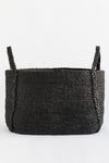 J'Jute Maya Large Wide Jute Basket in Desert Black
