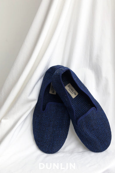 Dunlin Men's Slipper Shoe in Royal Blue