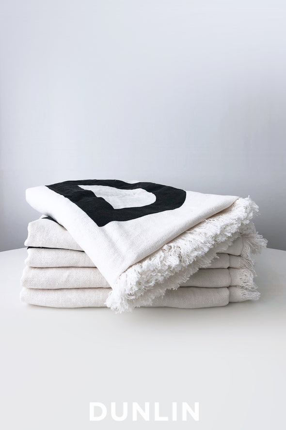 Dunlin Linen Beach and Bath Towel
