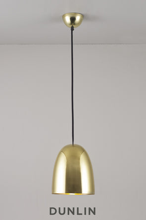 Stanley Smooth Brass Pendant