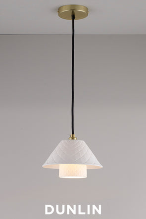 Oxford Double Pendant Light, Satin Brass