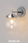 Mini Globe Wall Light, Seedy with Chrome