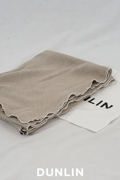Dunlin French Linen Tablecloth in Flax