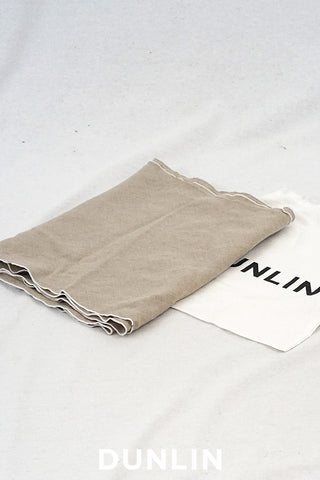 Dunlin French Linen Table Runner in Flax