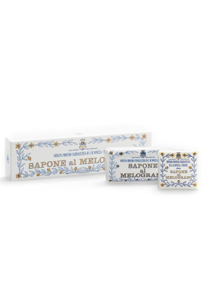 Santa Maria Novella POMEGRANATE / MELOGRANO SOAP BOX of 3 pcs