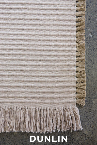 NODI Tasseled Wool in Chalk