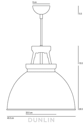 Titan 3 Pendant Light. Putty Grey