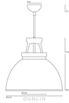 Titan 3 Pendant Light. Black - DUNLIN™ Home Australia - 2