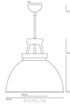 Titan 3 Pendant Light. White - DUNLIN™ Home Australia - 2
