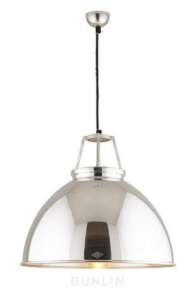 Titan 5 Pendant Light. Natural Aluminium