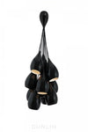 Drop One Grouping of Eleven Pendants - Black Gloss