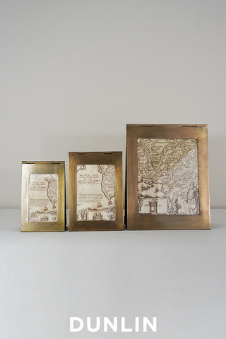 Triangolo Antique Brass Frame Small