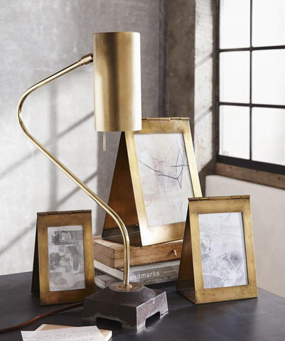Triangolo Antique Brass Frame Medium