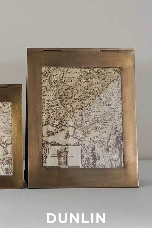 Triangolo Antique Brass Frame Large