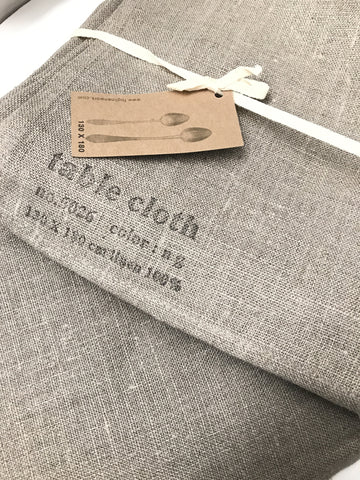 Fog Linen Table Cloth. Natural.