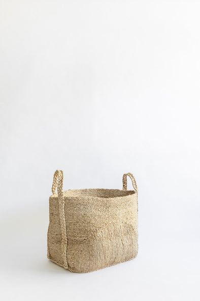 J'Jute Moon Jute Basket in Medium and Large Natural