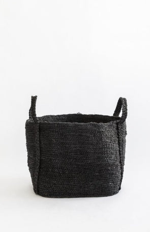 J'Jute Andaman Medium Jute Basket Desert Black