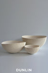 Lesley Doe Ceramics - Coalescence Bowl Set of 3 in Pure