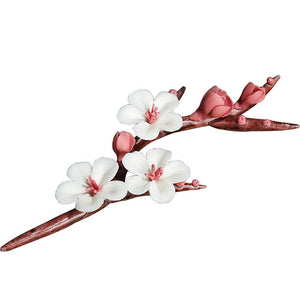 Chinese Hand-painted Ceramic Plum Blossom Decorative Flowers Ornament