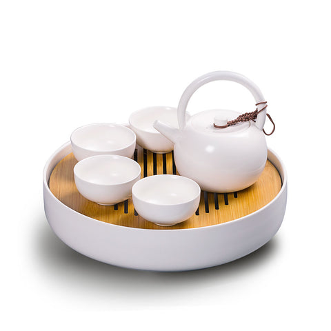 Loop Handle Teaset with Round Tea Tray