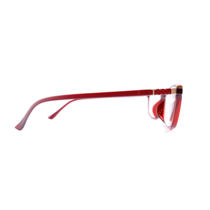 Maroon Reading Glasses | Blue Lenses