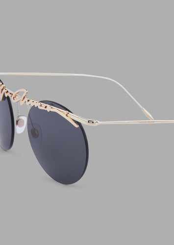 Giorgio Armani | Rimless Women | Green/Gold Signature